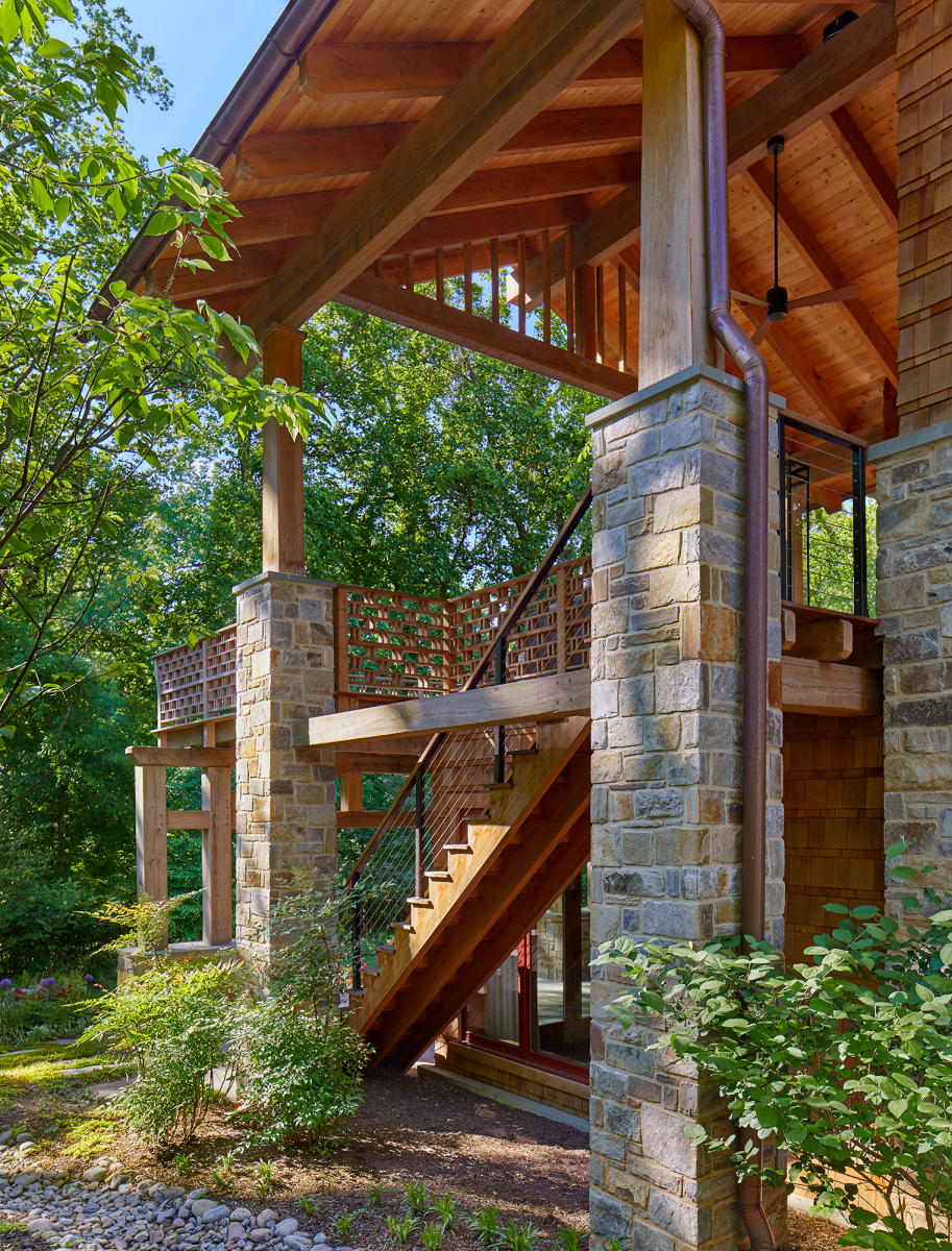 Architect: Barnes Vanze   |   Project: Arts & Crafts-Inspired Treehouse