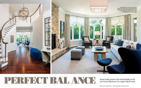"Home & Design ""Perfect Balance"" for Susan Gulick Interiors"