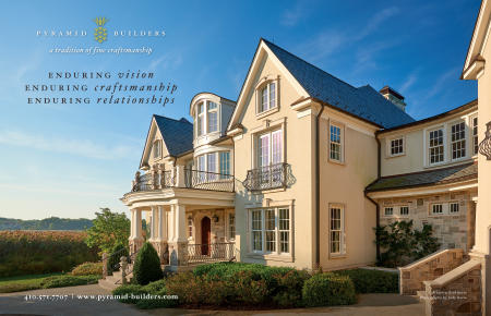 Pyramid Builders ad for  Home & Design Magazine, Annapolis MD